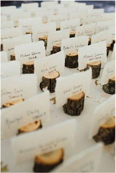 Cool idea for place card holders #wedding