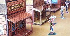 La ville de Lucky Luke en papercraft