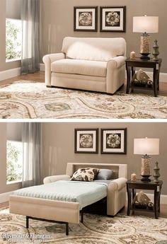 Beautiful Twin Bed Ottoman Sleeper