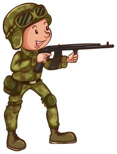 Army Party, Airsoft, Chibi, Character Design, Childhood, Kawaii, Cartoon Clip, Drawings, Illustration