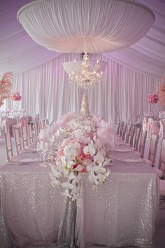 Totally swoon fairy tale pink and glitz wedding @}-,-;--