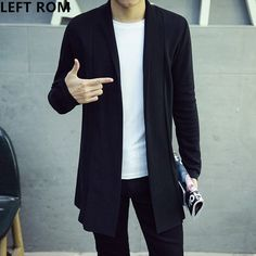 How to learn to Sale Price US $25.09  LEFT ROM Autumn Man 2017 New Design Cardigan knitting coat Long sleeve Lapel Male Solid color high quality Leisure sweater S 5XL your product #sweaters-cardigans