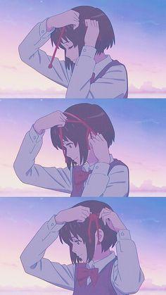 Sad Anime, Anime Chibi, Kawaii Anime, Anime Guys, Manga Anime, Ghibli, Kimi No Na Wa, Wallpaper Animes, Animes Wallpapers