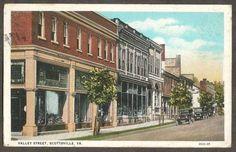 Scottsville-VA-Virginia-1932-Postcard-Valley-Street-W-E-Burgess