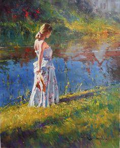 (Australia) by Robert Hagan(1947- ). Oil on canvas.