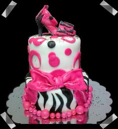 Hot Pink & Zebra Birthday Theme make it with out the bow it will be prettyer Pink Zebra Birthday, Girl Birthday, Birthday Parties, Free Birthday, Birthday Cakes, Birthday Ideas, Poka Dot Cake, Dot Cakes, Pink Cakes