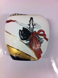 Vase porcelaine de Limoges moderne design : Accessoires de maison par lilymboutique