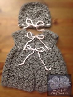Crocheted Vest and Hat Set