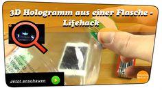 Mahlzeit. In diesem Video zeige ich euch, wir ihr ein 3D Hologramm für ein Smartphone oder Tablet mit einer Flasche selber basteln könnt. Es ist eine sehr einfache Hologramm Projektor Alternative zu den bereits bekannten CD´s. Einfach einmal ausprobieren und sich davon selbst überzeugen. Funktioniert prima. Viel Spaß mit dem Video und bei Fragen, fragen #hologramm #3d #cd #flasche #smartphone #handy #tablet #hologram #diy #lifehack #howto