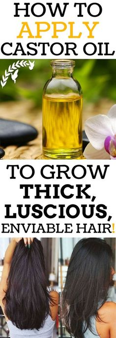 Apply Castor Oil This Way To Grow Thick, Luscious, Enviable Hair