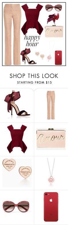 """Happy hour🍹"" by evgeniia-1993 ❤ liked on Polyvore featuring Gianvito Rossi, Marco de Vincenzo, Roland Mouret, BCBGMAXAZRIA, Tiffany & Co. and Chloé"