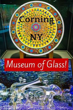 2016 Oct - My favorite museum in the world is the Corning Museum of Glass in Corning, NY. Don't miss this beautiful, family-friendly art and fun if you're in the Finger Lakes region of New York! Corning Glass, Corning Museum Of Glass, Glass Museum, New York Travel, Travel Usa, Seneca Lake, Finger Lakes, I Love Ny, Upstate New York