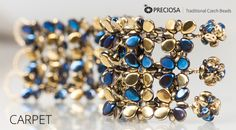 Bracelet made from PRECIOSA Pip™, Twin™ and Solo™ beads ~ free pdf ~ Seed Bead Tutorials