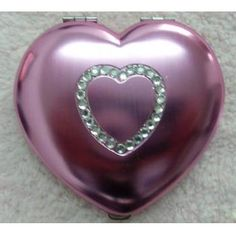 Red Trendy Ladies Heart Compact Mirror