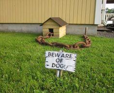 ironic beware of dog sign