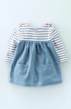 Main Image - Mini Boden 'Hotchpotch' Long Sleeve Dress (Baby Girls)