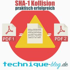 SHA-1 Kollision erfolgreich