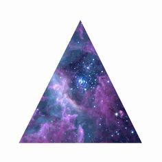 Want a triangle galaxy tattoo: