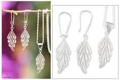 UNICEF Market | Sterling silver filigree jewelry set - Forest Magic