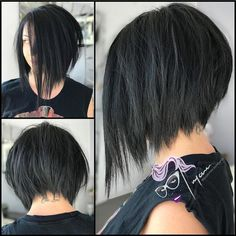 Another most liked of 2017 thank you !!!. SERRATED Shredded Asymmetric Aline Bob #iwillcutyou #hattorihanzo #guyannescissorhands