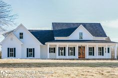 Plan Three Bed Farmhouse with Optional Bonus Room - home sweet home ❤ Dream House Plans, My Dream Home, Dream Homes, Country House Plans, Custom House Plans, Brick House Plans, Open House Plans, Building A Porch, Building A House