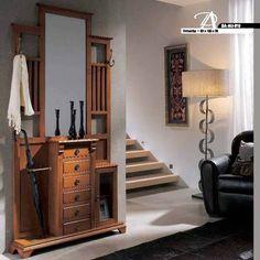 Recibidor clásico   Muebles Saskia Entryway Hall Tree, Entryway Decor, Diy Room Decor, Home Decor, Home Room Design, House Rooms, Mudroom, Wood Furniture, Entrance