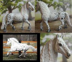 schleich Frisian stallion is now an appaloosa-cross