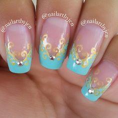 Instagram photo by nailartbyjen  #nail #nails #nailart Great Nails, Fabulous Nails, Gorgeous Nails, Cool Nail Art, Disney Princess Nails, Disney Nails, Disney Nail Designs, Nail Art Designs, Disney Inspired Nails