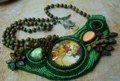 Beaded Embroidery Necklace Garden Celebration.
