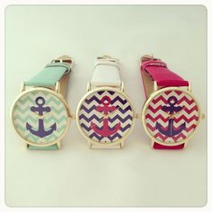 Anchor chevron watch – Imsmistyle.