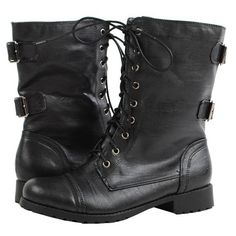 Shoe Addiction ❤ liked on Polyvore featuring shoes, boots, ankle booties, chaussures, botas, military boots, combat booties, combat boots, black army boots and black combat booties