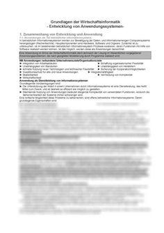 Wirtschaftinfomatik zusammenfassung der SB5: Grundlagen der Wirtschaftsinformatik: Subsystemen und Aufbau von Regelkreisen Hamburger, Sheet Music, Company Goals, Summary, Housekeeping, Computer Science, Economics, Burgers, Music Sheets