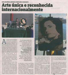 Artigo dum jornal sobre o meu trabalho. Visite o meu BLOG: saulrogerioartesanato.blogspot.pt..