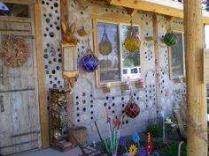 Very cool Hippie store on the way to or from Durango, CO  the walls have glass inset where you can see out, and through