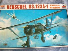 1970's Esci 1/48 Scale Henschel HS. 123A-1 Model by MyHillbillyWays on Etsy