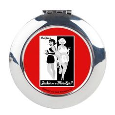 Jackie or Marilyn Round Compact Mirror - sweet! #madmen #madstyle