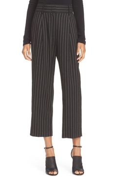 Alice + Olivia 'Rosalinda' Pinstripe High Waist Ankle Pants available at #Nordstrom