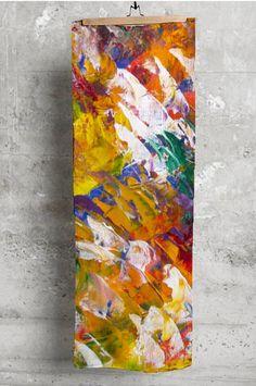 Silk Square Scarf - Abstract Pond Silk Sq by VIDA VIDA ESSL13D