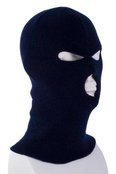 d4661036709 Value Knit - Navy Blue Full Face Ski Mask - Single Piece - Made in USA