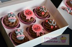 Horse themed cupcakes with handmade decorations