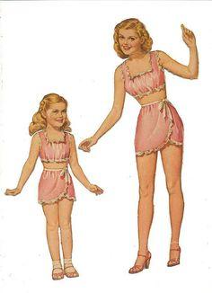 1940s Paper Dolls