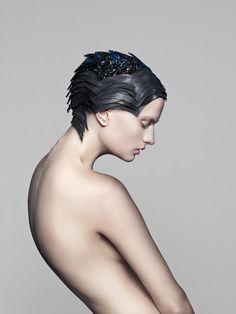 Gemstone-encrusted headdress that maps your brain activity.