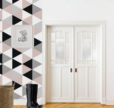 This striking geometric wallpaper will transform your space!  Our Wallpapers are sold as rolls and we offer two lengths. *WALLPAPER LISTING SIZE*
