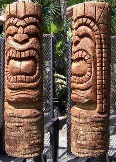 Tiki Figurine 40cm Wooden to the Make Or Hang Hawaii Feng Shui Lounge