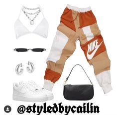 Swag Outfits For Girls, Cute Swag Outfits, Retro Outfits, Baddie Outfits Casual, Kpop Fashion Outfits, Stylish Outfits, Jugend Mode Outfits, Everyday Outfits, Look Fashion