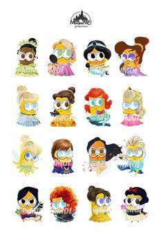 DISNEY princesses minions