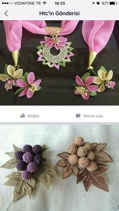 This Pin was discovered by HUZ Lace Flowers, Crochet Flowers, Fabric Flowers, Needle Lace, Bobbin Lace, Freeform Crochet, Thread Crochet, Crochet Potholder Patterns, Crochet Hooded Scarf