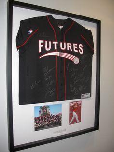 Futures Game Framed Jersey   Corey Brinn dot Com Framed Jersey, Future Games, Dots, Stitches