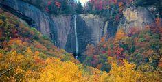 http://www.onlyinyourstate.com/north-carolina/20-hidden-waterfalls-nc/;  Hickory Nut Falls, Chimney Rock