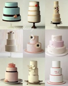 Simple and classy wedding cakes.